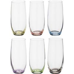 BOHEMIA RAINBOW SZKLANKA 350ML LONG KPL 6 SZT-12775
