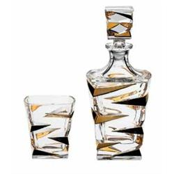 BOHEMIA ZIG ZAG GOLD ZESTAW DO WHISKY 1 6-10985